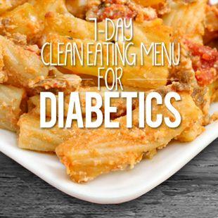7 Day Clean Eating Menu for Diabetics
