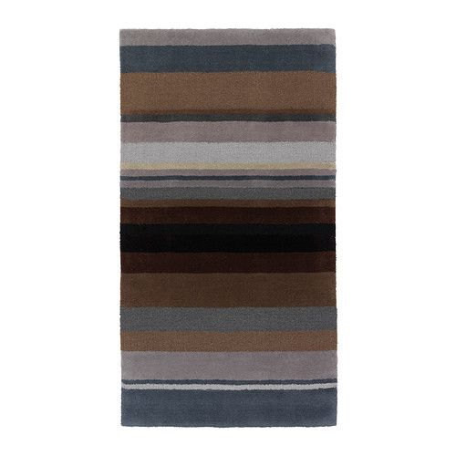 "great natural tones for this runner / mat in pure wool! // STOCKHOLM Rug, low pile 2'7"" x 4'11"""