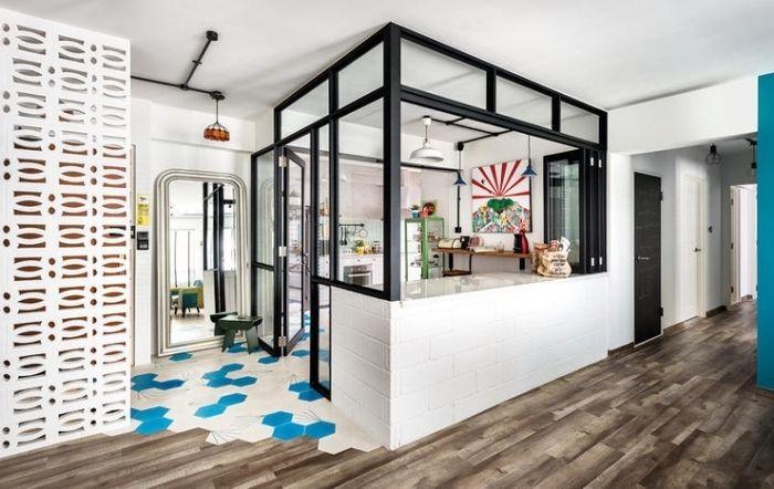 1001 id es pour la cuisine ouverte avec verri re plans - Plan de maison avec cuisine ouverte ...