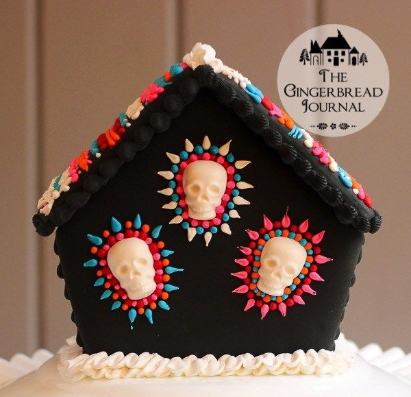 Amy Bradley Designs Gingerbread Houses: A Gingerbread House For Dia De Los Meurtos, Day Of The