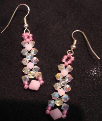 Ring, Ohrringe und Halskette in Rosatönen - creadoo.com