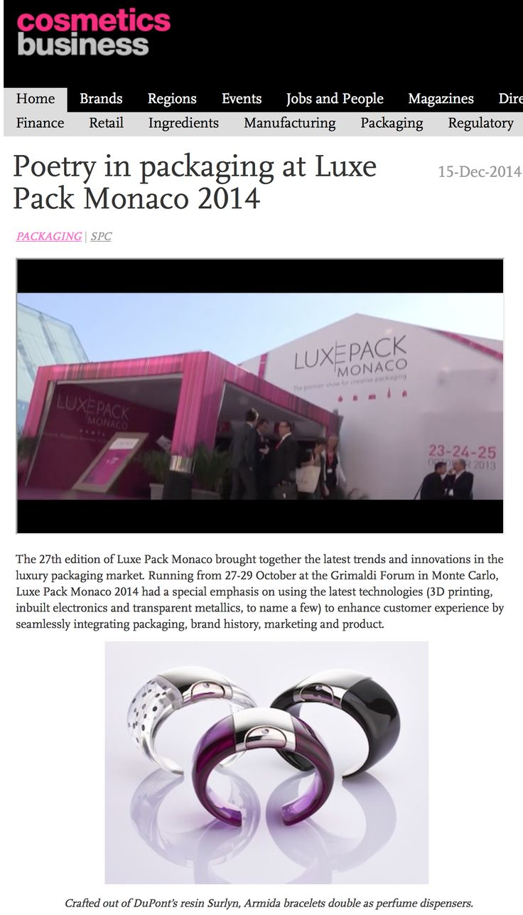 @armidatouch success during Luxe Pack Monaco 2014!  http://www.armidatouch.com/press