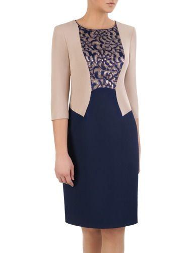 d50dd876e2 Elegancka sukienka z imitacją żakietu Zoika