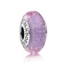 Purple Shimmer Murano Glass Charm 791651