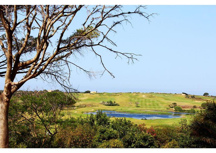 Uno dei laghetti del Links in una calda giornata di luglio