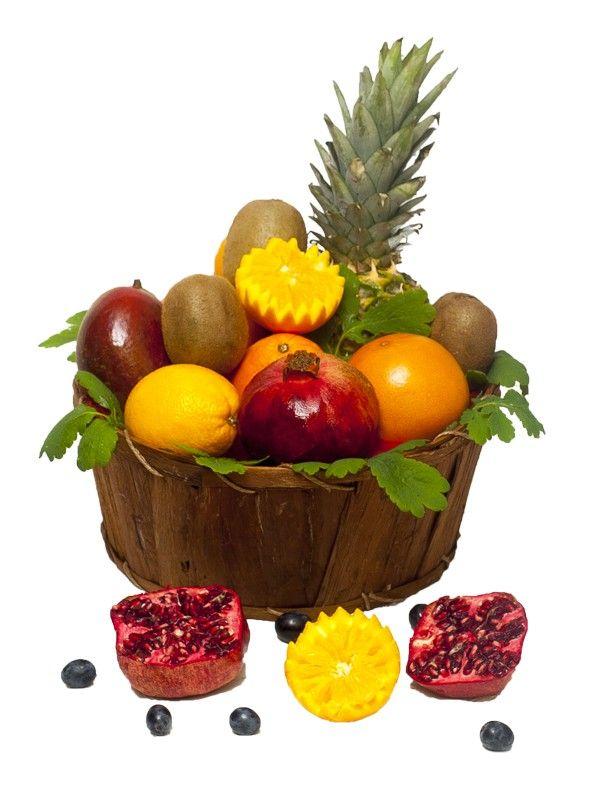 Cos cu fructe exotice Noi te ajutam sa te simti ca intr-o atmosfera mediteraneeana. Comanda fructe exotice pentru cei dragi