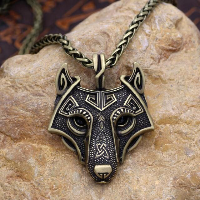 Norse Vikings Of The Necklace Original Wolf Head Pendant Necklace Jewelry 、FE