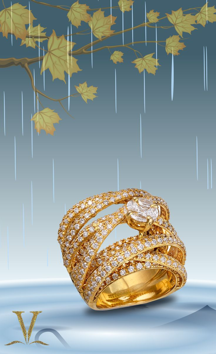 Look wonderful wearing this glamorous ring and stand out even in the rain!