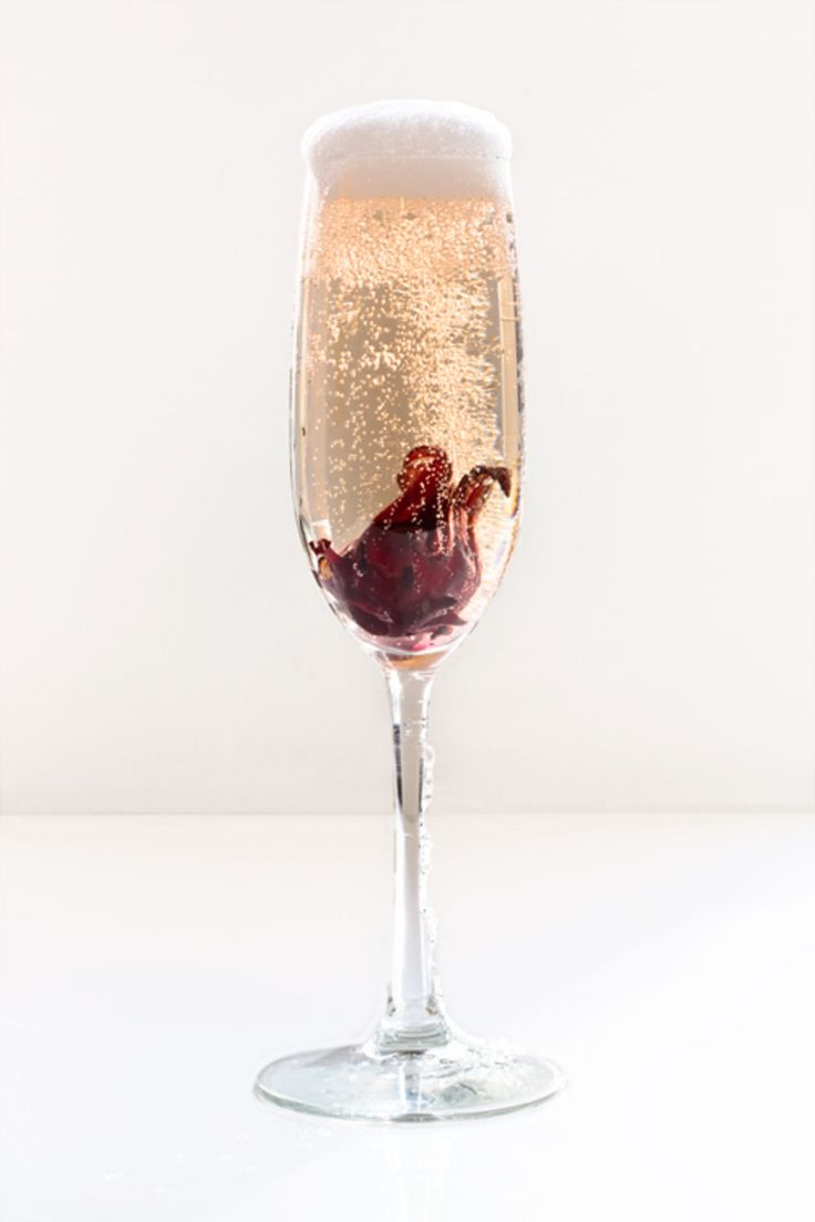 Hibiscus rose champagne cocktail! This one is delicious and you'll definitely want to try it.