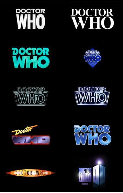 50 years of The Doctor...with ten logos!