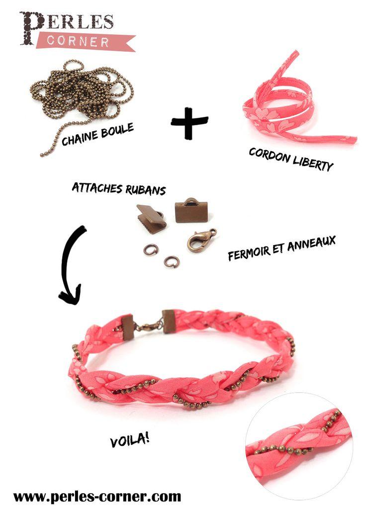 Que faire avec...? Un bracelet, un head-band, à vous de choisir!   http://www.perlescorner.com #Tutorial #diy #fabric @perlescorner