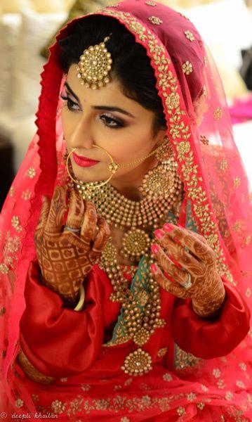 Bridal Portrait - Soft Pink Makeup .