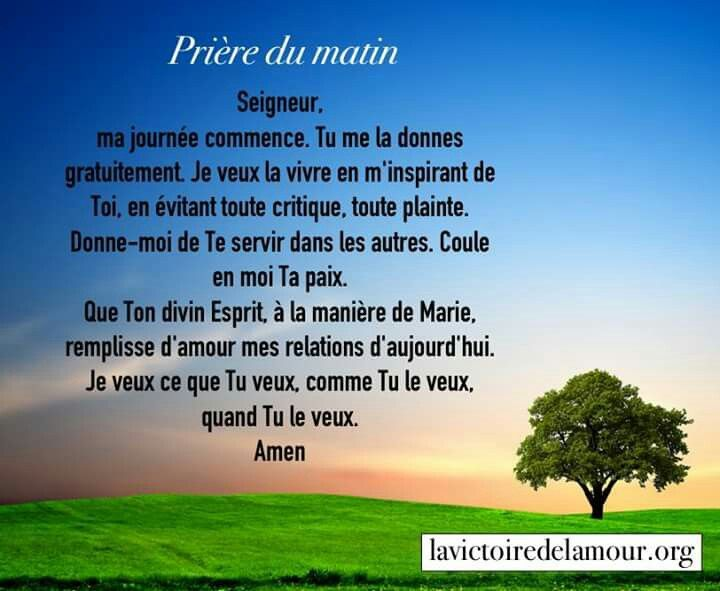 Belle Priere Du Matin Belles Citations Pinterest Belle
