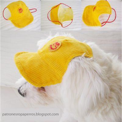 Mimi y Tara | Patrones de ropa para perros: Patrones de gorra para perro