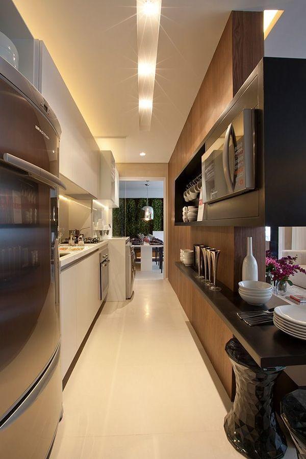 Iluminação linear na cozinha