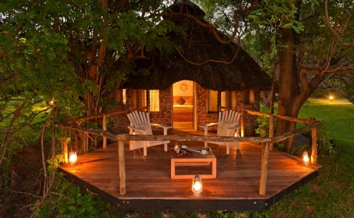Süßes Chalet in der Kanyemba Lodge