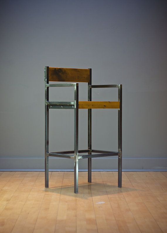ltd steel made stools corl raw hand com wood stool bar metal design barnboard custom and by custommade reclaimed ron pin
