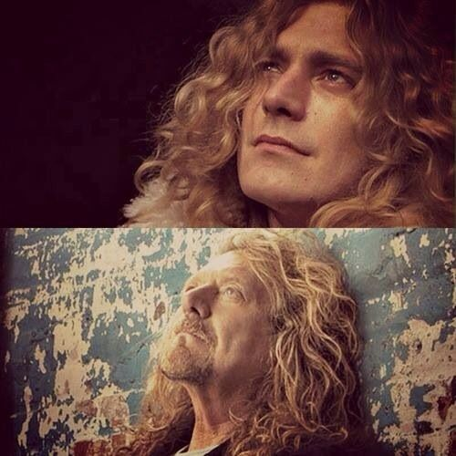 Robert Plant then and now