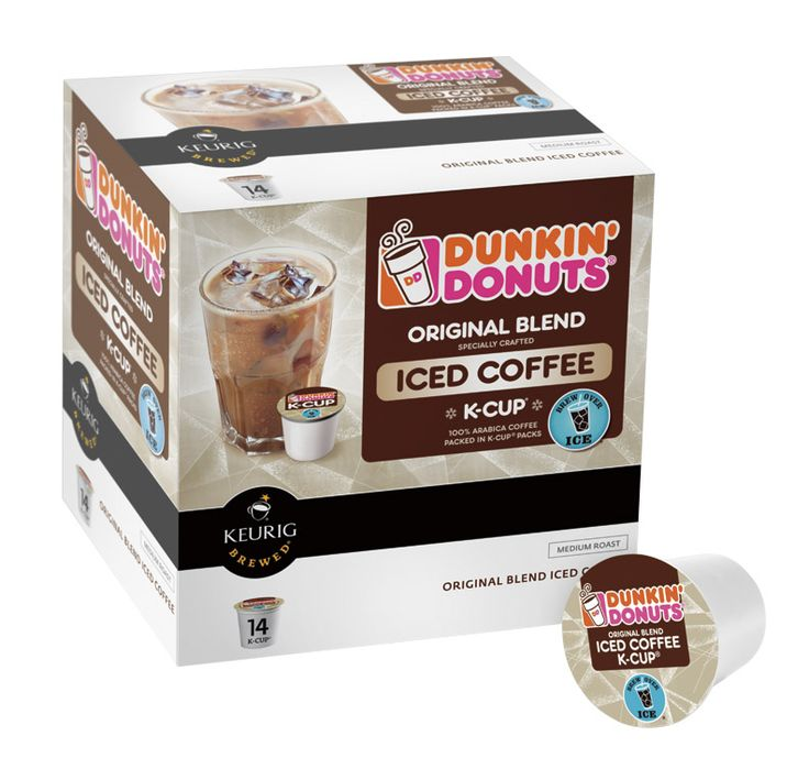 """Dunkin' Donuts introduced Original Blend Iced Coffee K-Cup® packs, a new variety of the brand's popular K-Cup® packs for use with the Keurig® K-Cup® Brewing System. To make it easier to brew iced coffee at home, Original Blend Iced Coffee K-Cup® packs were developed  to be brewed hot directly over ice… now that is really easy particularly for those of us """"""""dashing"""" out to work."""