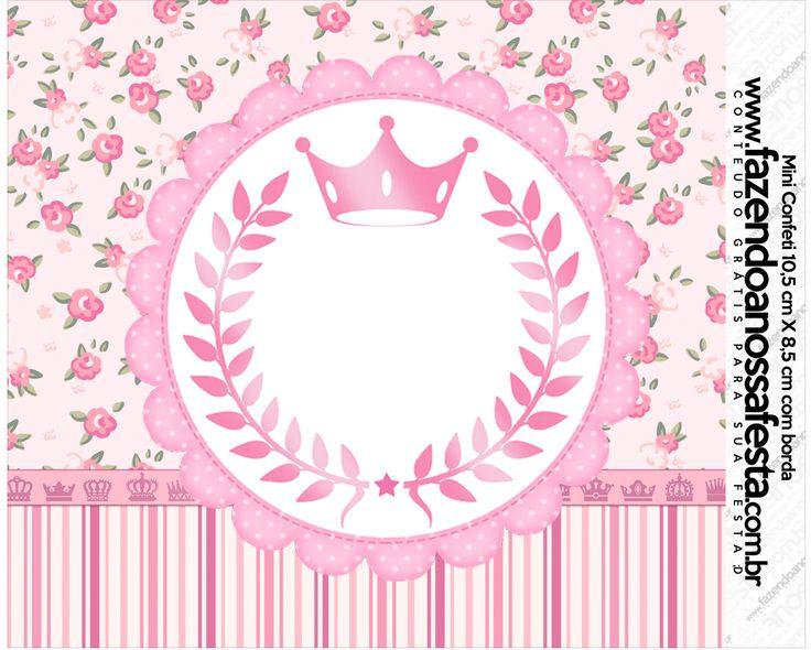 Uau! Veja o que temos para Mini Confeti Coroa de Princesa Rosa Floral