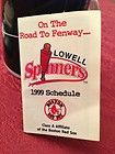 Lowell Spinners 1999 Baseball Schedule Red Sox Afiliate - 1999, Afiliate, Baseball, Lowell, SCHEDULE, Spinners