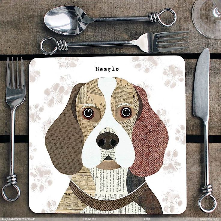 Beagle personalised Placemat/Coaster by SimonHartArtist on Etsy https://www.etsy.com/listing/231170343/beagle-personalised-placematcoaster