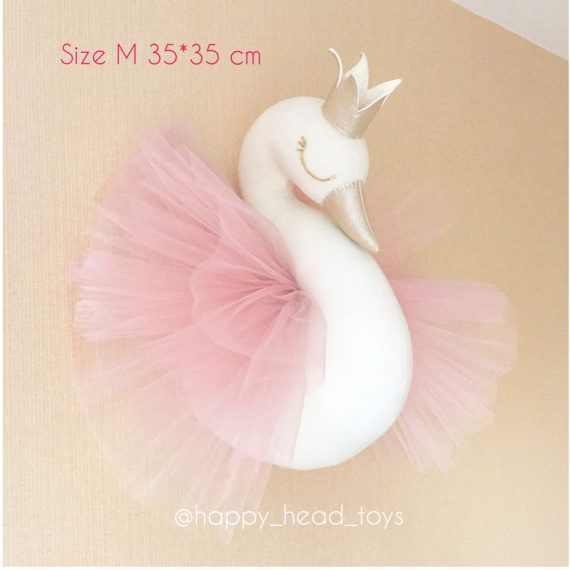 Princess swan. Swan head wall mounted swan taxidermy swan