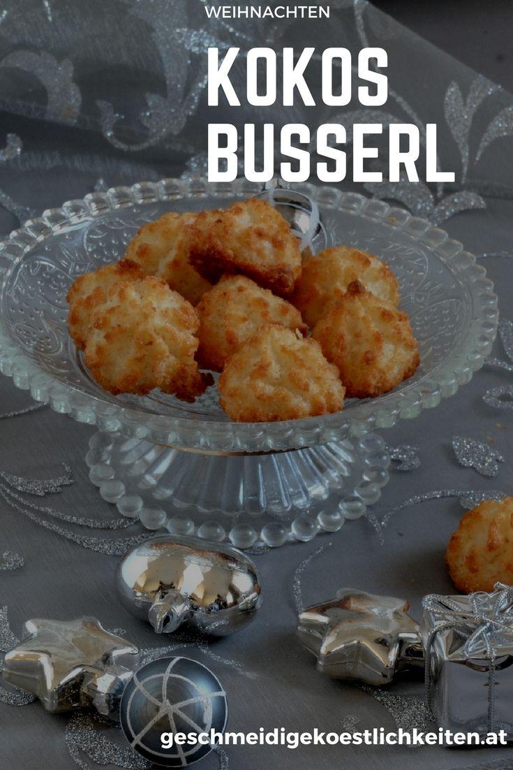 Einfaches Rezept für Kokos Busserl #weihnachten #kekse #weihnachstgebäck