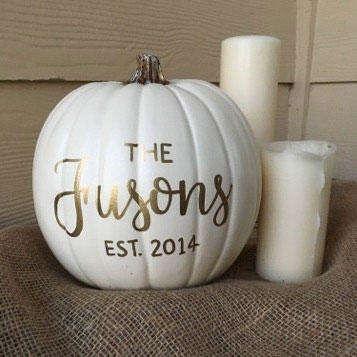 Personalized Pumpkin