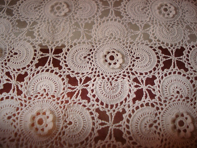 #Crochet your very own doily table runner or even bedspread. Make of you wish with this.