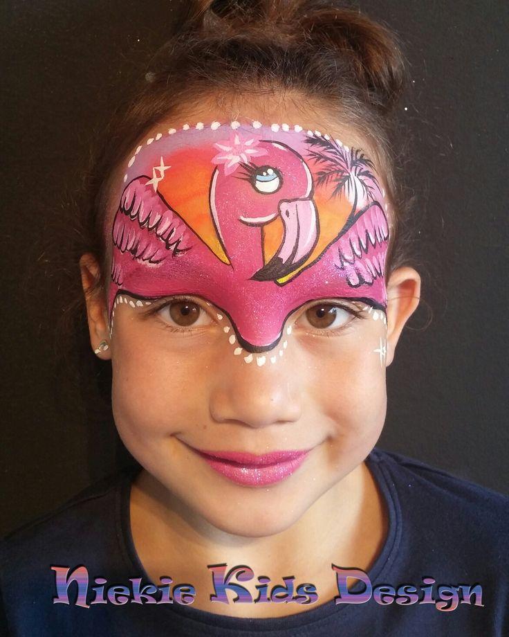 Flamingo schmink door #niekiekidsdesign