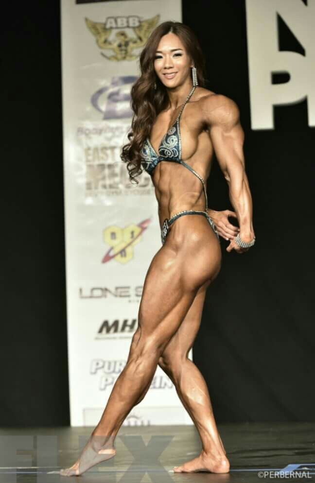 Yeon Woo Jhi Asian Muscle Muscle Fitness Fitness Gym Girls