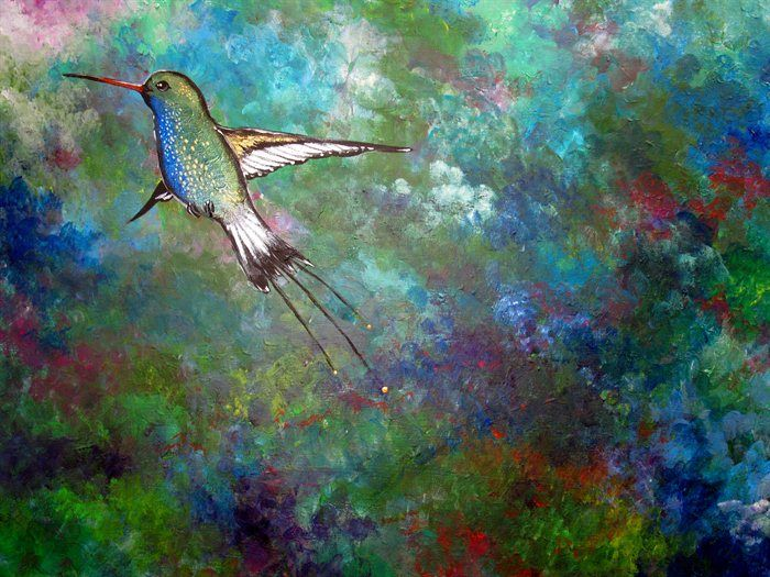 Flight of the Hummingbird by Sally Ford