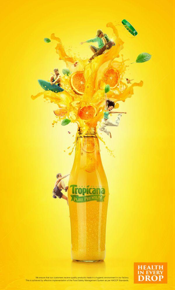 TROPICANA JUICE CAMPAIGN by Icon Advertising & Design FZ LLC, via Behance
