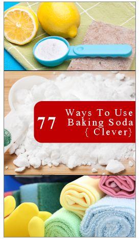 77 Clever Uses For Baking Soda http://tipnut.com/household-baking-soda/
