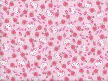Hello Kitty Flowers Cotton Pink
