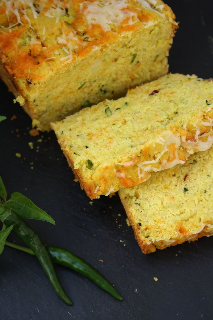 Zucchini Green Chilli Cornbread.... this bread served warm would be fabulous with almost any buffet dinners... Italian receipes i think would be fabulous with this bread.... but even BBQ meats too....