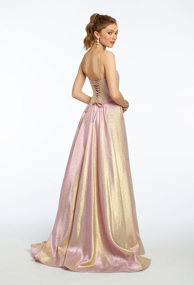 Corset Back Two Tone Metallic Ball Gown from Camille La Vie and Group USA ce34a4a0c