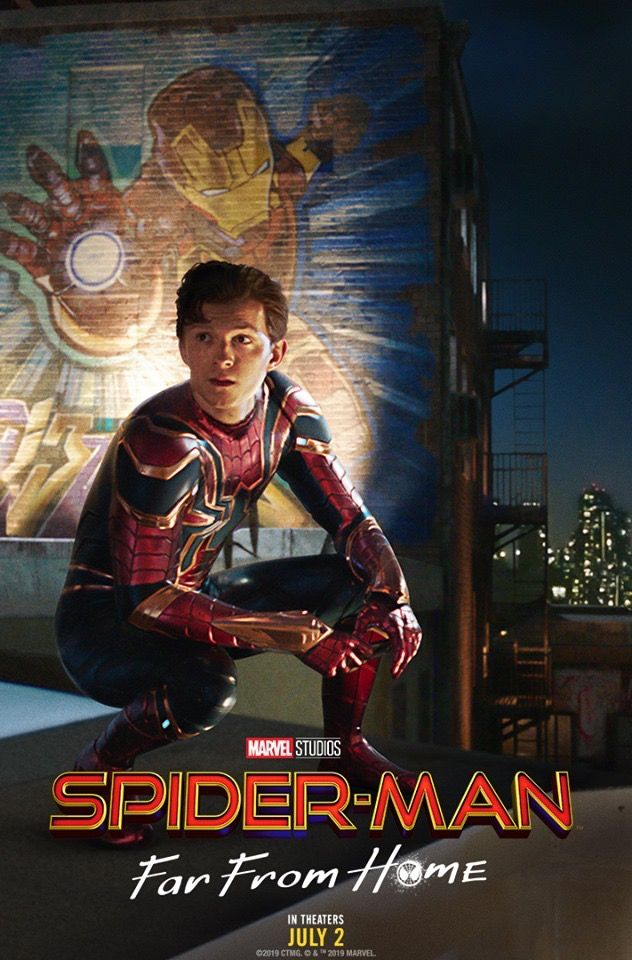 Spider Man Far From Home Movie Poster 2019 Spiderman Tom