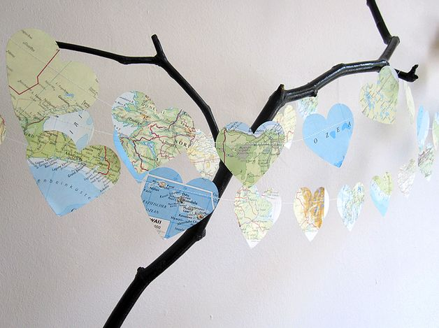 Mappa del mondo _ ATlas _ Ghirlanda cuore