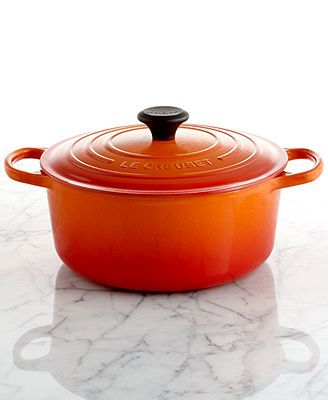 Le Creuset Signature Enameled Cast Iron French Oven, 5.5 Qt. Round - Nothing says fall like a family sized French Oven!: Round French, Dutch Ovens, French Ovens, Signature Enamels, Enamels Cast, Crucible, Cast Irons, Irons 5 5, Creuset Signature