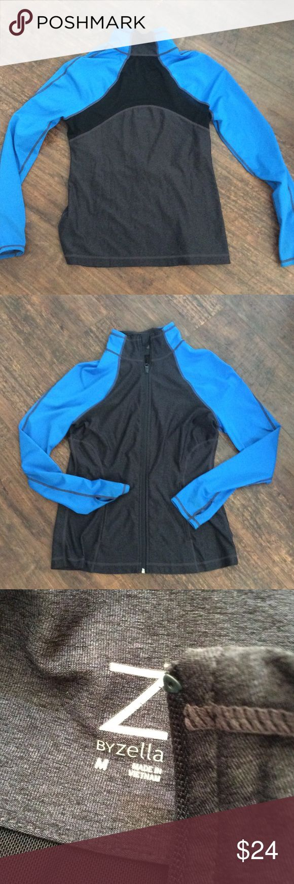 Zella mesh back workout zip front jacket M Mesh back is see thru making it sexy and fun. This brand is an amazing fit and quality like lululemon. Z by Zella is nord rack version. Worn maybe once if at all Zella Jackets & Coats