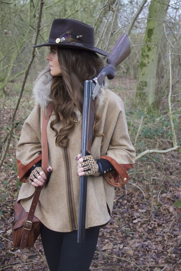 The Holland Cooper British Sporting style edit featuring the Brown Herringbone tweed and fur cape and matching trilby hat complete with cartridge feather brooch. Hand cut and made in England http://www.hollandcooper.com/tweed-and-fur-cape-brown-herringbone.html