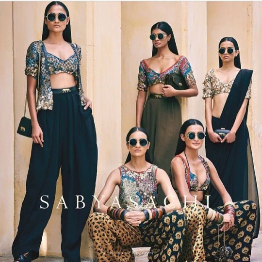 Sabyasachi Summer/Resort 2015 Collection. I did not like this collection but maybe be Sabyasachi wanted to bring the shimmer down after his last collection. Description by Mahua Roy Chowdhury