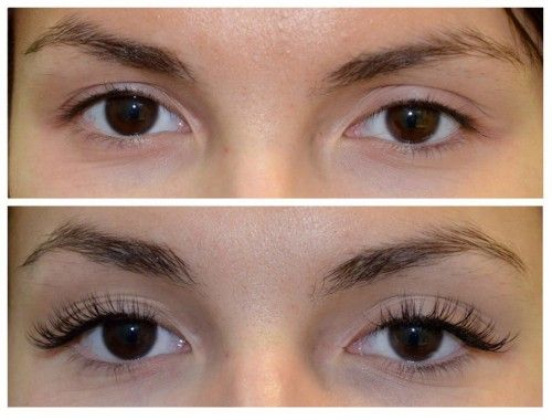 Natural False Eyelashes Before And After