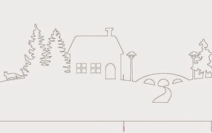 Imprimolandia: Silueta de un pueblo de invierno