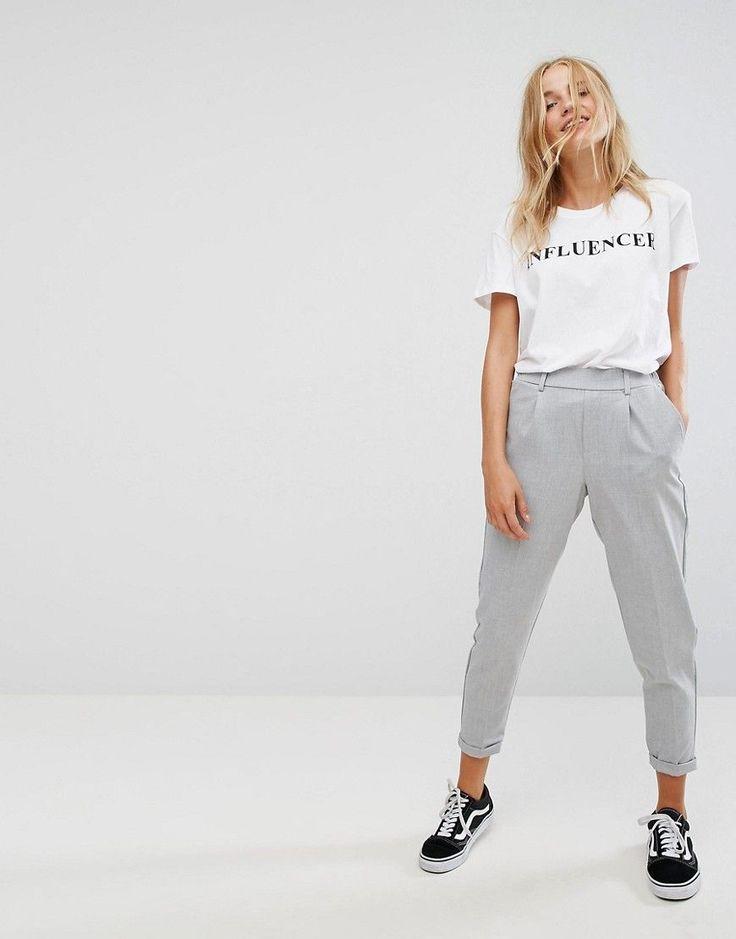 Bershka Tailored Pant - Gray
