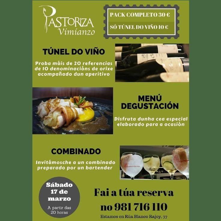 O próximo sábado tes unha cita no #RestaurantePastoriza. E agárdanvos moitas sorpresas máis que iremos contando nos próximos días! Ven a disfrutar con nós! #viño #vinos #catar #catarvinos #denominacionesdeorigen #bebervino #sumiller #bartender #MenuPastoriza #gastronomia #gastronomy #foodie #foodporn #costadamorte #vimianzo #plansabado #planazo