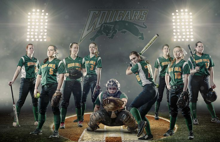 Regina Cougars Women's Softball - A banner I put together for the University of Regina Cougars Women's Softball Team.