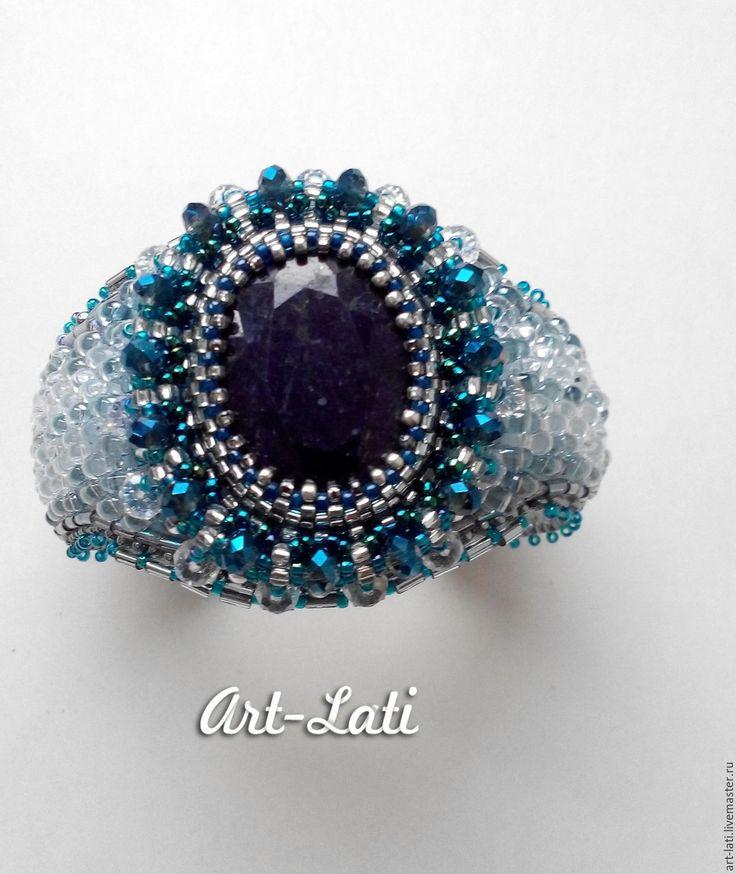 """Купить Комплект """"Snow Queen"""" - синий, бирюзовый, серебристый, прозрачный, радужный, комплект украшений"""